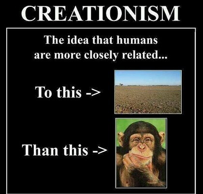 creationism vs evolution related to dirt